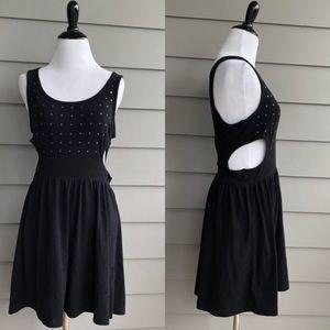 Vans Black Mini Cutout Sleeveless Shift Dress